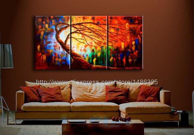 Organic Matrix Oil Painting On Canvas A Designs Abstract Art 3 Panel ...