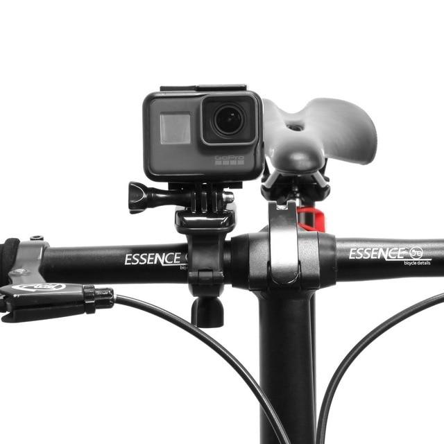 360 درجة دراجة المقود جبل حامل محول الدراجة كليب دعم القوس ل gopro بطل sjcam عمل الكاميرا