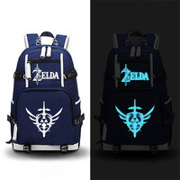 High Quality 2017 New Game The Legend Of Zelda Breath Of The Wild Printing Backpack Canvas