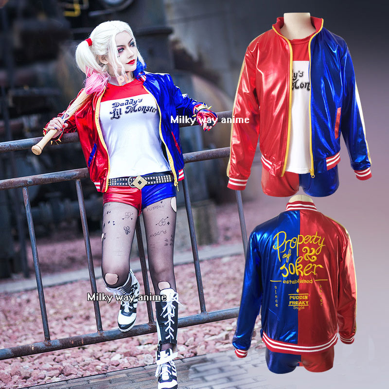 Milky Way Suicide Harley Cosplay Costume T-shirt Coat Jacket Suicide Shorts Gloves Dress Costume Halloween Cosplay Party