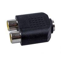 THGS 2 x RCA hembra/1x3,5mm Mono hembra adaptador