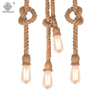 Industrial Vintage Hemp Rope Minimalism Retro Hanging Lamp Creative Lighting Designer For Decor Corridor Foyer Kitchen
