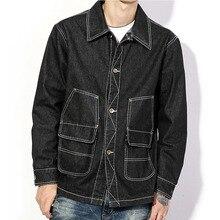 2017 new spring men denim coat youth men loose plus size men denim jacket fashion casual black male jeans jacket
