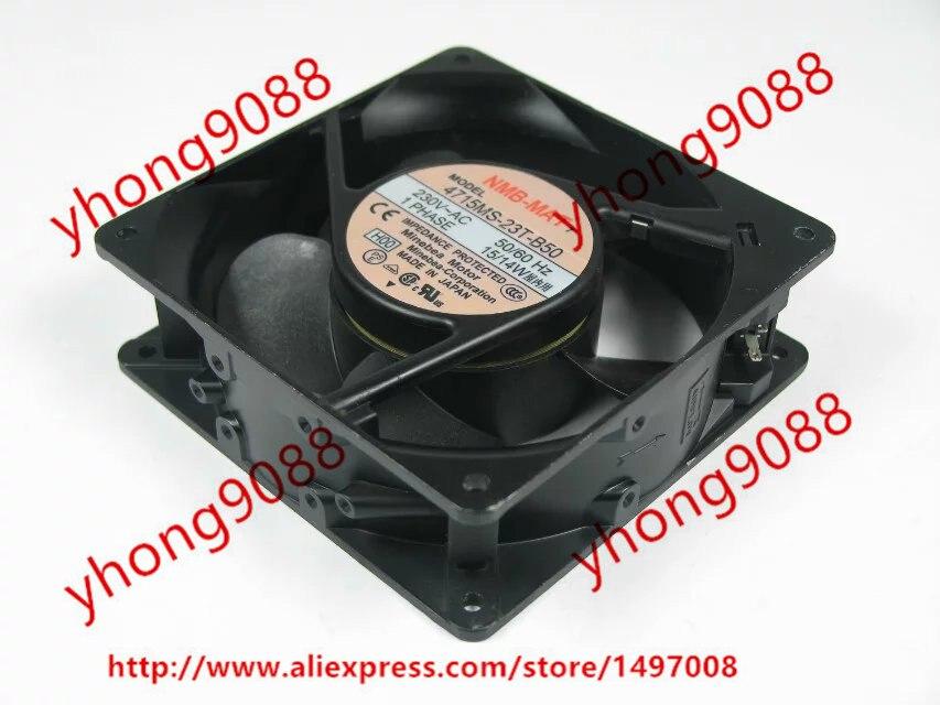 NMB-MAT 4715MS-23T-B50 H00 AC 230V 15W 120x120x38mm Server Square Fan ebmpapst a6e450 ap02 01 ac 230v 0 79a 0 96a 160w 220w 450x450mm server round fan outer rotor fan