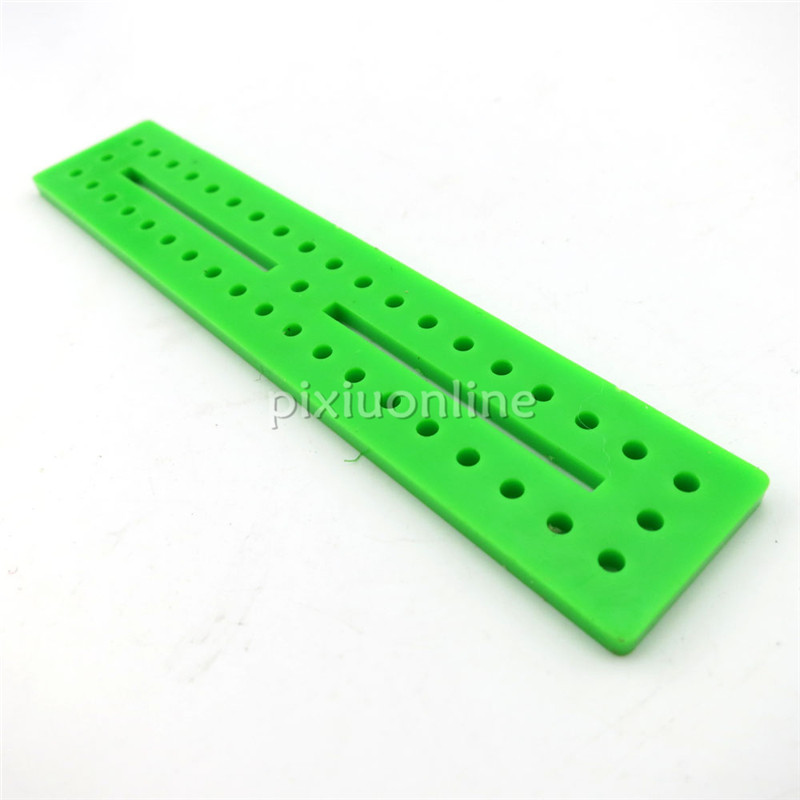 1pc J204 20*100mm Green Color Multi-aperture Plastic Piece for DIY Model Making Free Shipping Russia 85pcs k841 85 plastic gears pack without repetition diy technology model making free shipping russia