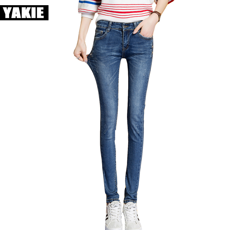 Ripped Jeans For Women Skinny Denim long Jeans Femme Stretch Plus Size Female Jeans Vaqueros Mujer Slim Pencil Pants For Women new 2017 women skinny denim jeans femme stretch plus size female high waist jeans vaqueros mujer slim pencil pants e890