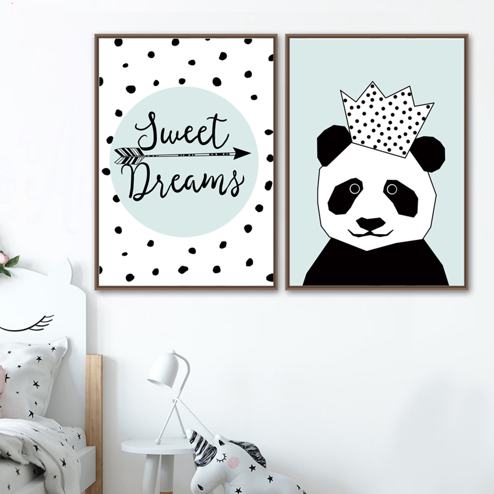 Canvas-Painting-Wall-Art-Print-Crown-Panda-Animal-Nordic-Style-Kids-Decoration-Posters-And-Prints-Wall (1)