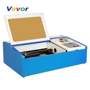 Máquina de grabado láser CO2 VEVOR, 40W, DIY, ventilador de refrigeración, impresión artística