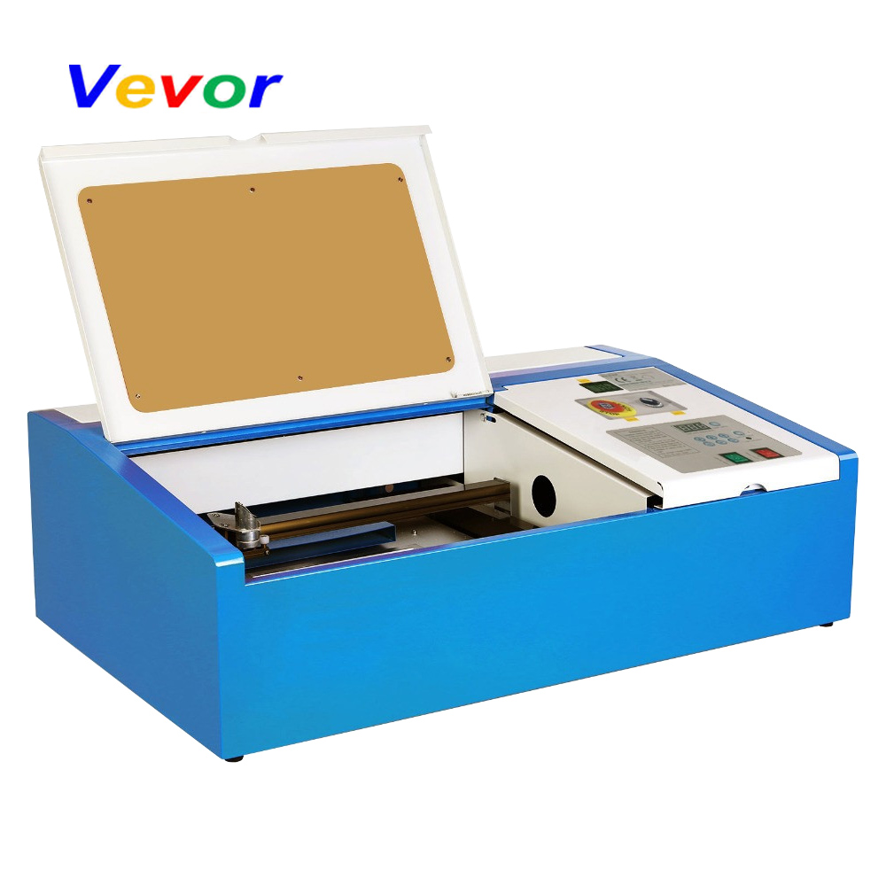 VEVOR CO2 Laser graveur Machine de gravure 40W bricolage imprimante ventilateur de refroidissement œuvre