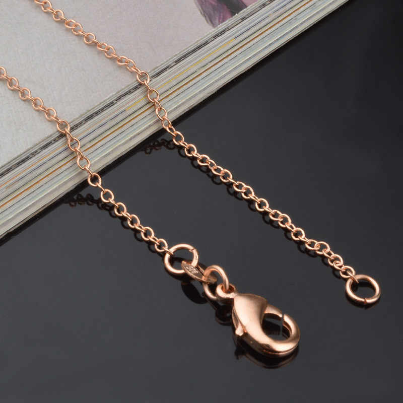 Modyle srebrny/złoty/różowe złoto kolor kobieta O Link Chain naszyjnik biżuteria 18-30 cali