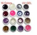New DIY 16 Color Glitter Dust UV Builder Gel Set for False French Tips Salon Tools Nail Art