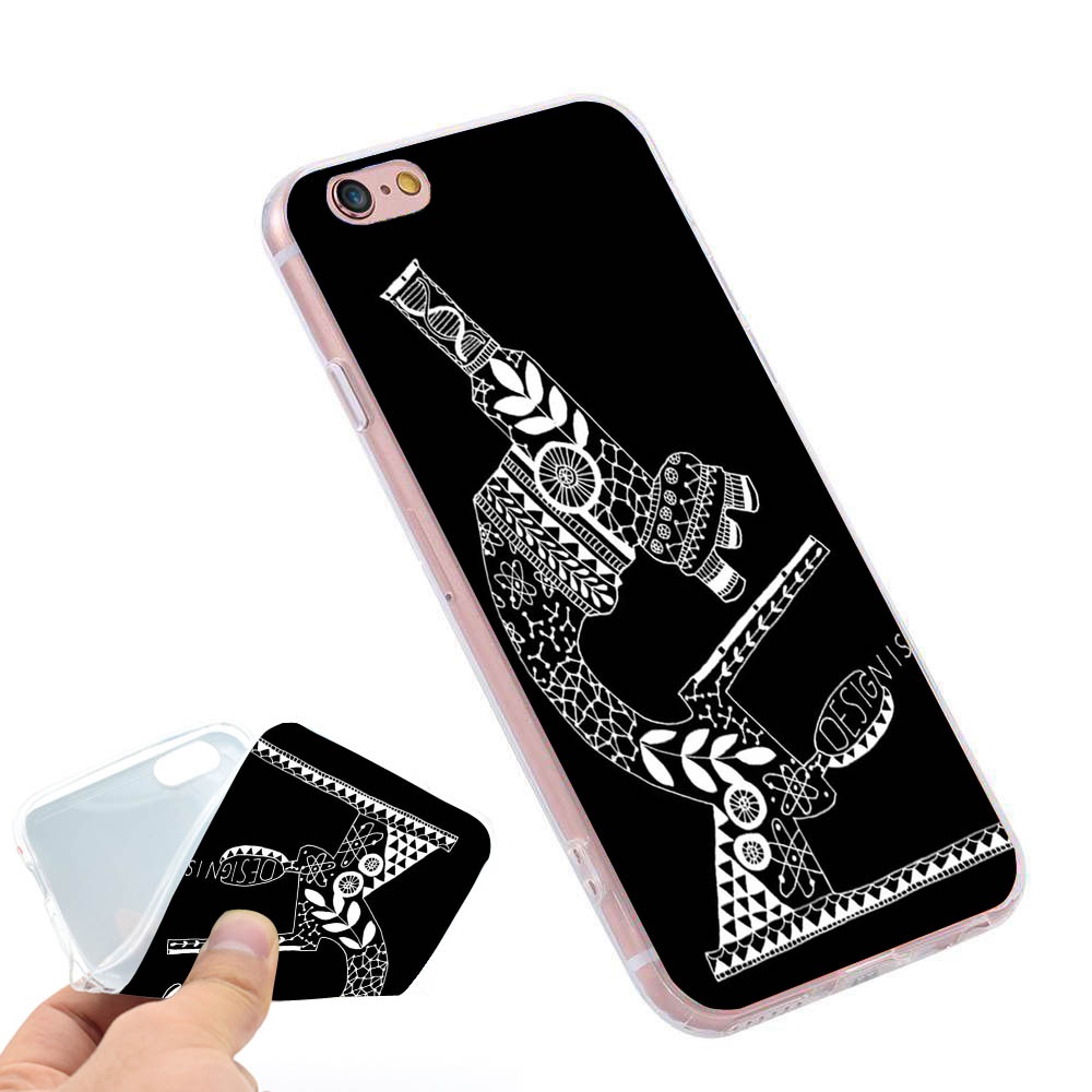 font b Science b font design quotes typography artwork Clear Soft TPU Slim Silicone Phone