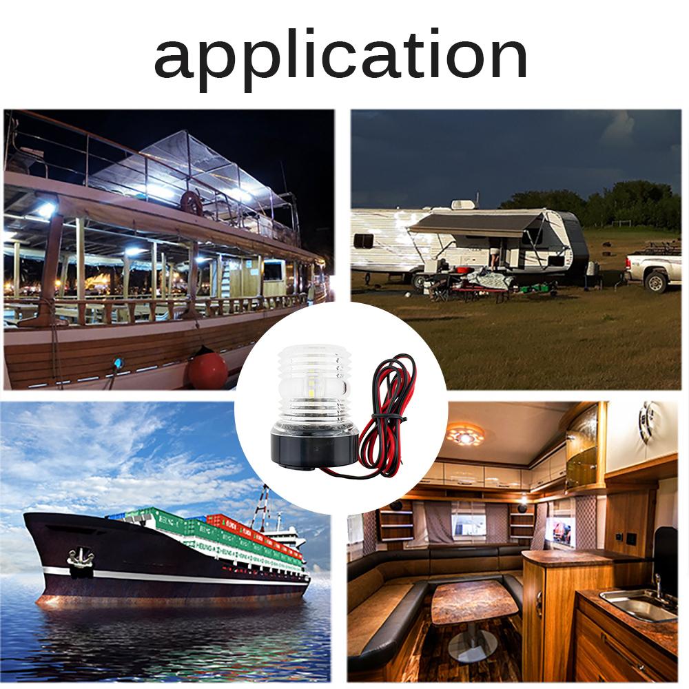 Яхта светильник с принтом лодочного якоря; одежда светильник 12V светодиодный ультра яркий лодка яхта навигация судно Водонепроницаемый предохранительное устройство навигации светильник