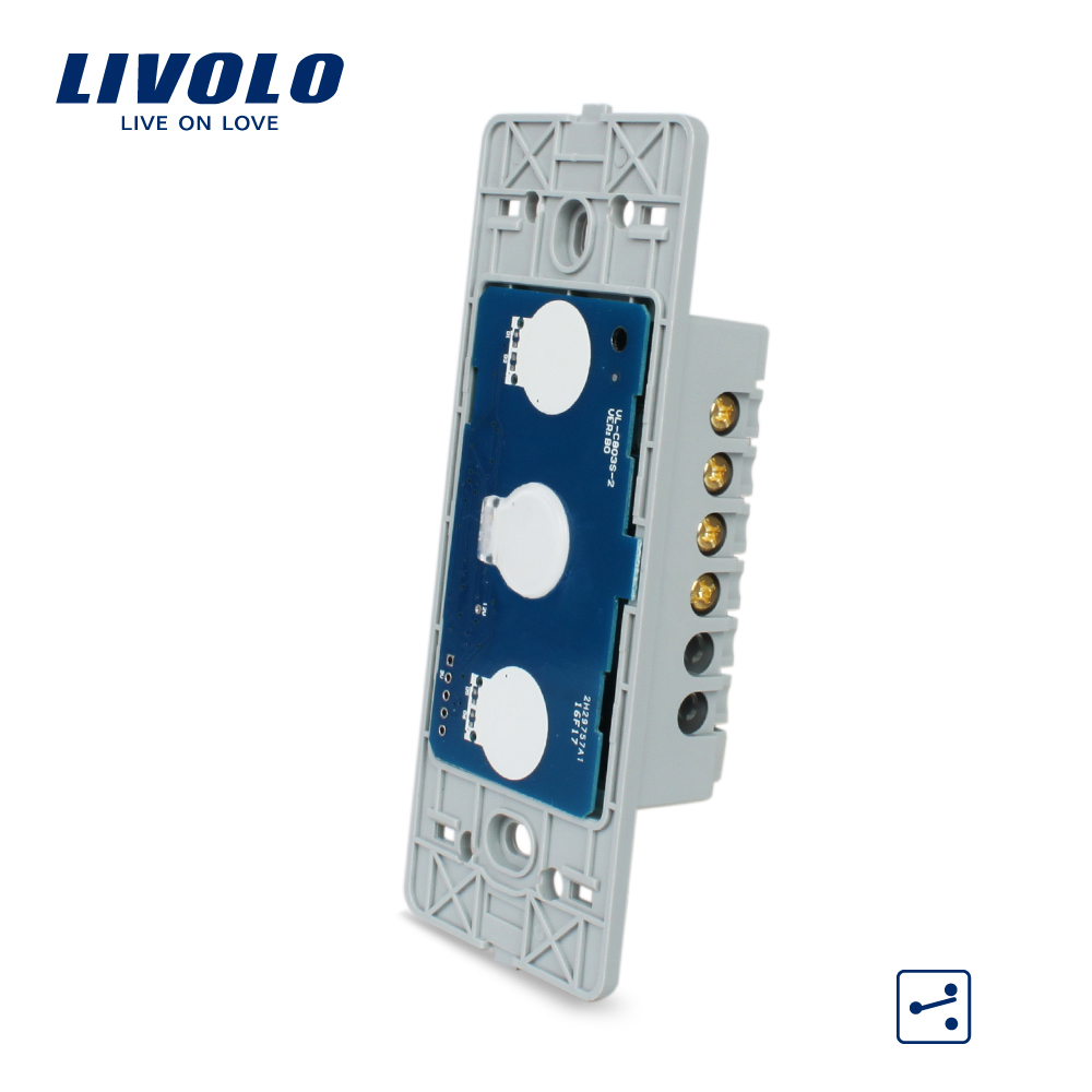 Free Shipping, Livolo Manufacturer, US Standard, The Base of  Touch Screen Wall Light Switch, 1Gang 2 Way  VL-C501S купить