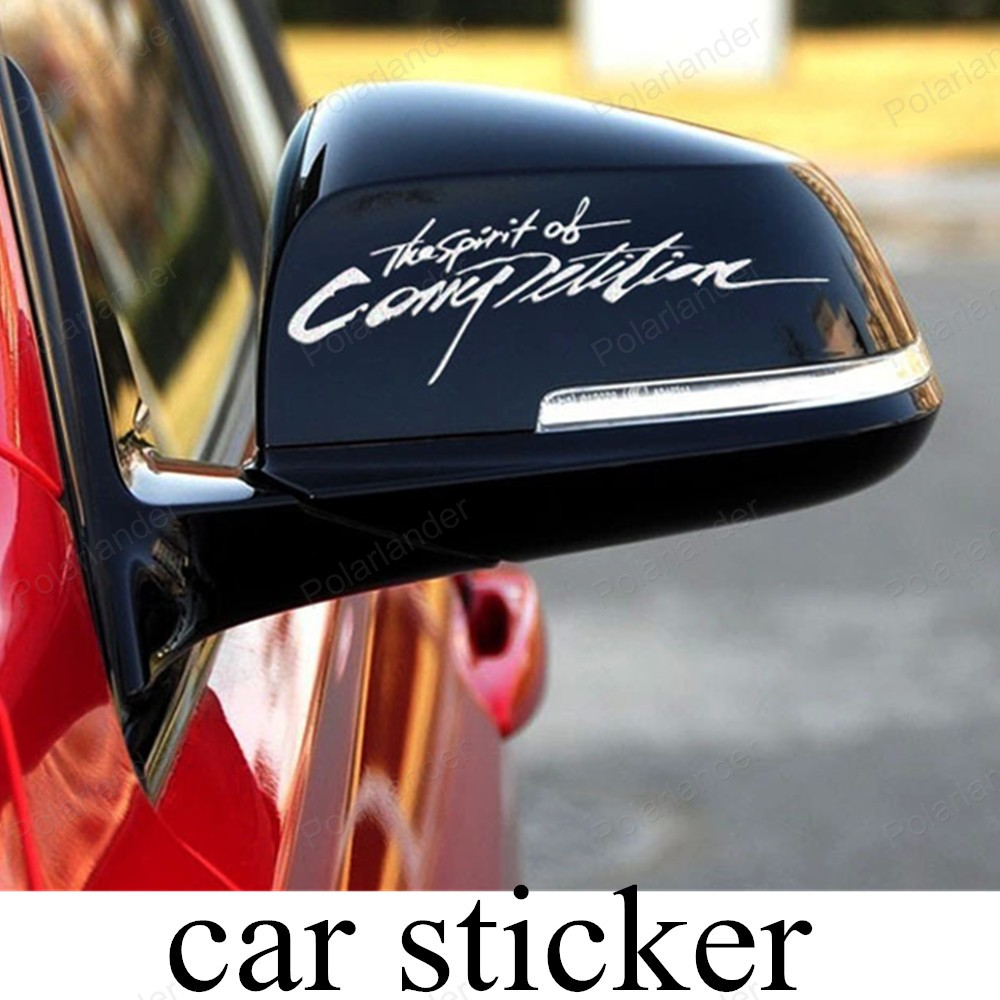Race car sticker design - New Arrival Racing Car Stickers And Decals New Design Car Rear View Mirror Styling The Spirit