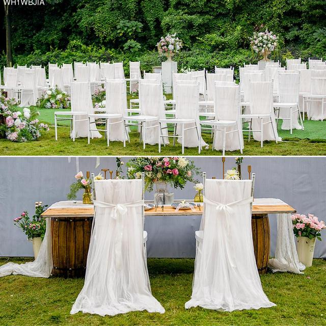 diy organza chair covers hire adelaide 2pcs set soft tulle cover for wedding birthday party baby shower celebrations decoration quality