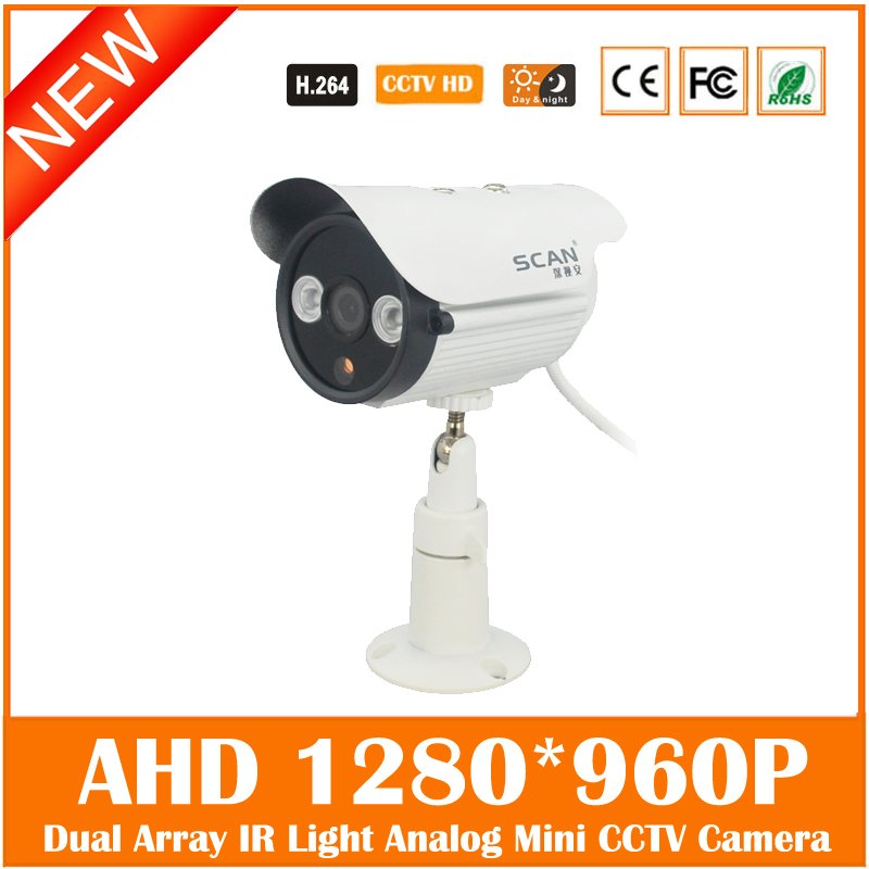 Ahd 960p Bullet Camera Home Outdoor Waterproof Infrared Night Vision Surveillance Security Mini Cam Freeshipping Hot Sale cmos 800tvl bullet camera infrared light night vision cctv outdoor surveillance security plastic mini webcam freeshipping