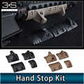 4 PCS/SET EMagpul Hand Stop Kit Panels Picatinny Rail Cover Handguard Airsoft