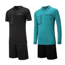 New Survetement football 2017 Professional Men Soccer Judge uniforms soccer jersey suit referee clothing referee Jerseys sets