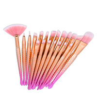 Makeup Brushes 12 20 Pcs Unicorn Mermaid Soft Synthetic Professional Cosmetic Makeup Foundation Powder Blush
