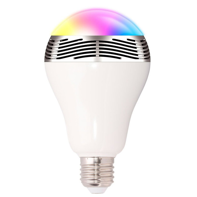 APP Intelligent RGB LED Bulb Bluetooth Smart Lighting Lamp Colorful Dimmable Speaker Lights Bulb With Remote Control,ceiling KTV smart dimmable mushroom led bulb household intelligent lighting rgb e27 600lm ac85 265v switchable for ios and android