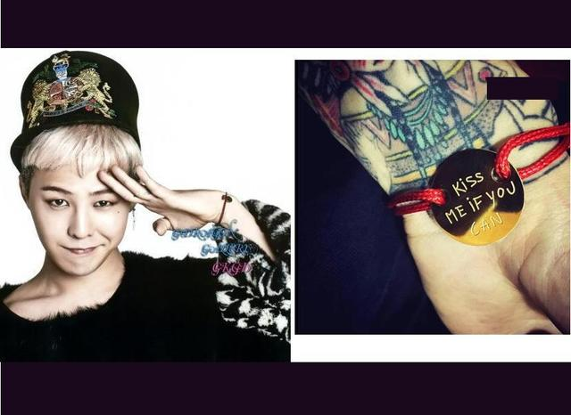 G Dragon Bracelet Fashion Kiss Me If You Can Korean Idol Star Bang