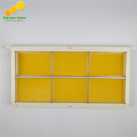 1Pcs Bee Frame With 6Pcs Honey Cassette Box & 6Pcs Plastic Foundation Sheet