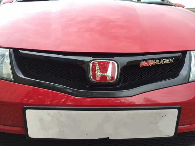 Mug En Style Red Logo Grill Frpunpaited Front Grille For Honda Civic