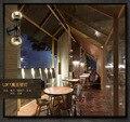 Lâmpadas de parede Contemporânea Contratado Estilo Double-queimador de Feijões Mágicos Bares de Café de Vidro Da Lâmpada de Parede Ajustável Sala de Exposição da Luz
