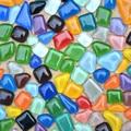 Glitter colorido Irregular Mosaico De Vidro Telhas de Mosaico 200g de Vidro Plano Beads DIY para Artesanato, ornamentos de Jardim de flor Pote Aquário