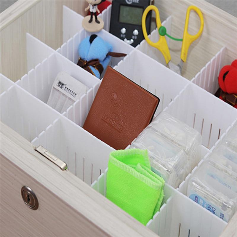 24/36 pièces pratique en plastique blanc bricolage maison grille tiroir diviseur organisateur de stockage ménage armoire tiroir diviseur outils blanc
