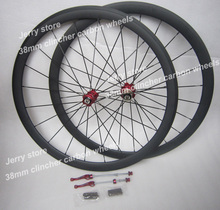 clincher road bicycle parts,700C carbon road wheels,38mm deep wholesale free shipping