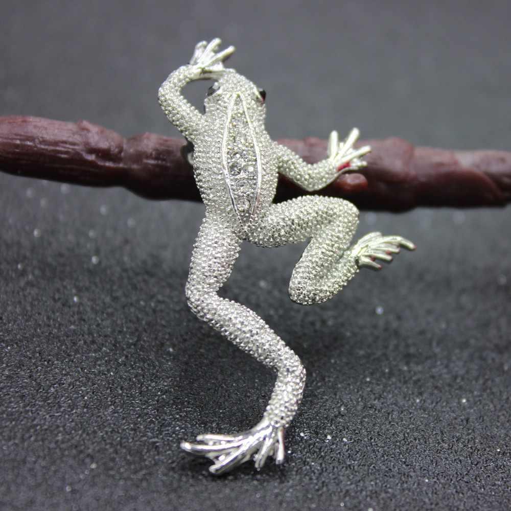Rane Spille Per Le Donne Animale Accessori Sveglio Dello Smalto Spilli Strass Due Colori Dell'annata di Modo Degli Uomini Dei Monili Regali Spille Karl