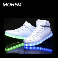7 Colors Light Shoes For Kids Led Luminous Shoes For Boys Girls Fashion Light Up Casual