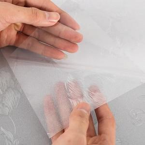Qualität Selbst Klebstoff Dekorative Gefrostet Fenster Film PVC 100X45cm Privatsphäre Glasmalerei Film Fenster Aufkleber Für Home Bad