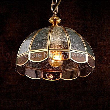 The high quality Brass Pendant Lamp, One Light, Vintage Total Copper Glass