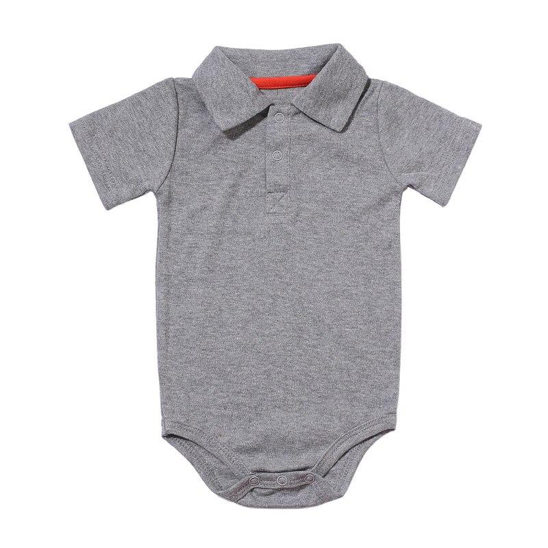 Zomer Baby Boy Meisje Rompertjes Turn-down Kraag Pasgeboren Katoen Kleding Jumpsuit Voor 0-2Y Peuters Bebe Outfits 2