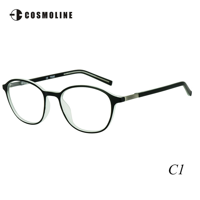 bf2d852145d Cosmoline Retro Round Ultra Light TR90 Optical Glasses Frame for Women  Myopia Glasses Frames with Demo