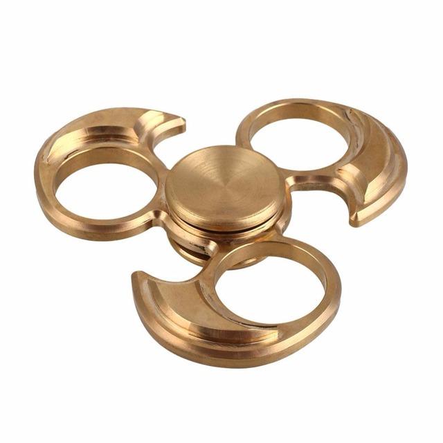 Fidget Spinner Spinner EDC Mano de Cobre Metálico de oro Personalizado de Apoyo Fidget Juguetes