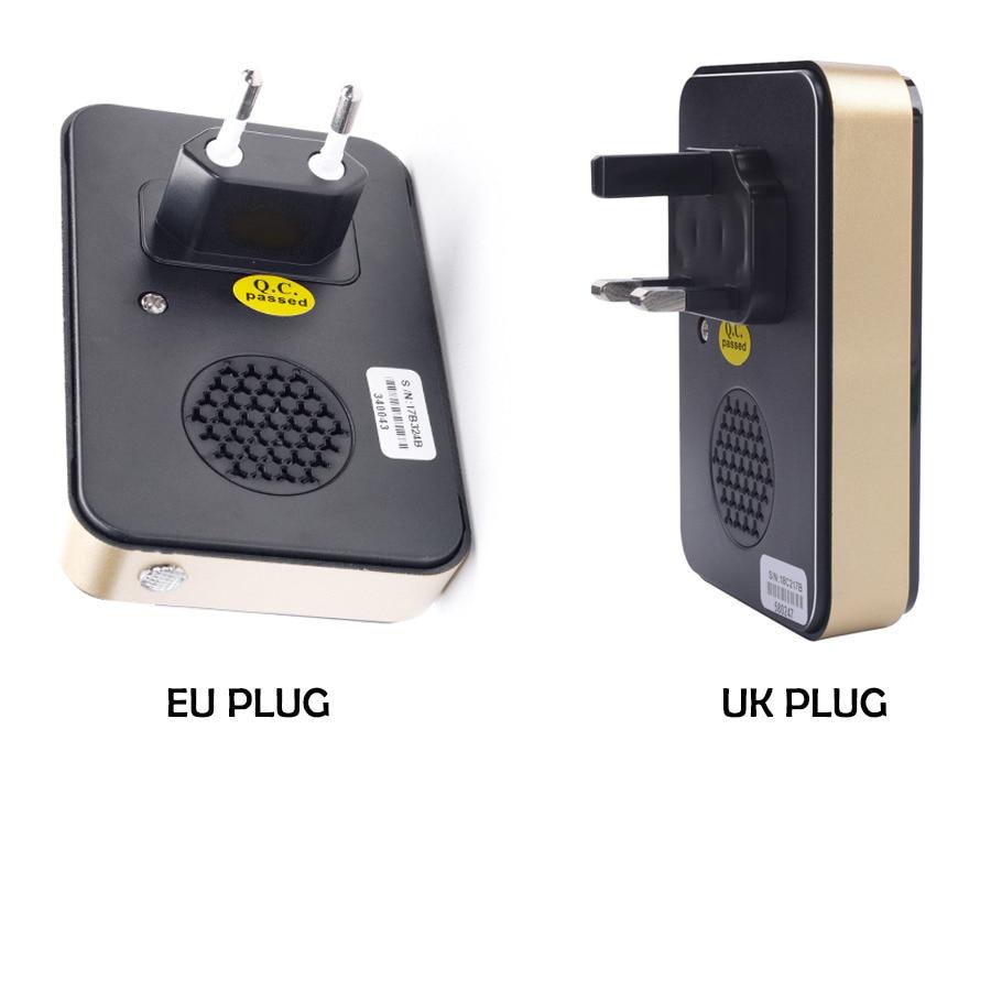 Image 5 - SMATRUL self powered Wireless DoorBell Waterproof no battery EU UK plug smart home Door Bell chime 1 Transmitter 1 2 Receiver-in Doorbells from Home Improvement