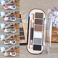 6 Colors Shimmer Eyeshadow Eye Shadow Palette Glitter Cosmetic Brush Set Party Wedding Long Lasting Makeup Kit Y2