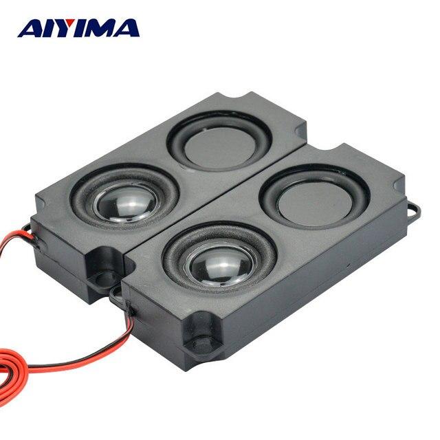 AIYIMA 2 個オーディオポータブルスピーカー 10045 LED テレビスピーカー 8 オーム 5 ワットの二重ダイヤフラム低音コンピュータスピーカー DIY ホームシアター用