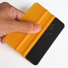 3M Gold Felt Squeegee with Size 10×7.3cm 3D Carbon Fiber Foil Vinyl Film Wrapping Squeegee Tool