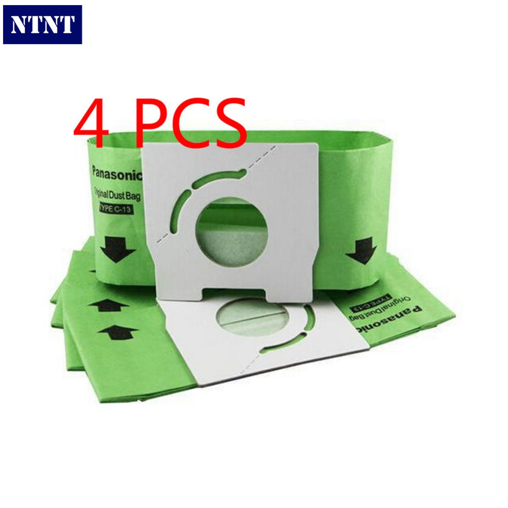 NTNT Free Post 4 PCS New Vacuum Cleaner Bags Dust Bag C-13 Paper Bags Replacement for Panasonic MC-CA291 MC-CA391 MC-CA301 30pcs lot replacement vacuum cleaner bags dust collector paper bags for vacuum cleaner mc cg321 ca291 ca391c 13 bag parts