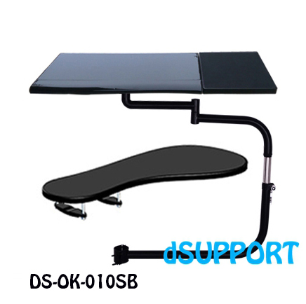 Multifunctional Full Motion Chair Clamping Keyboard Holder Lapdesk+Square Mouse Pad+Chair Arm Clamping XL size Mouse Pad/Mat