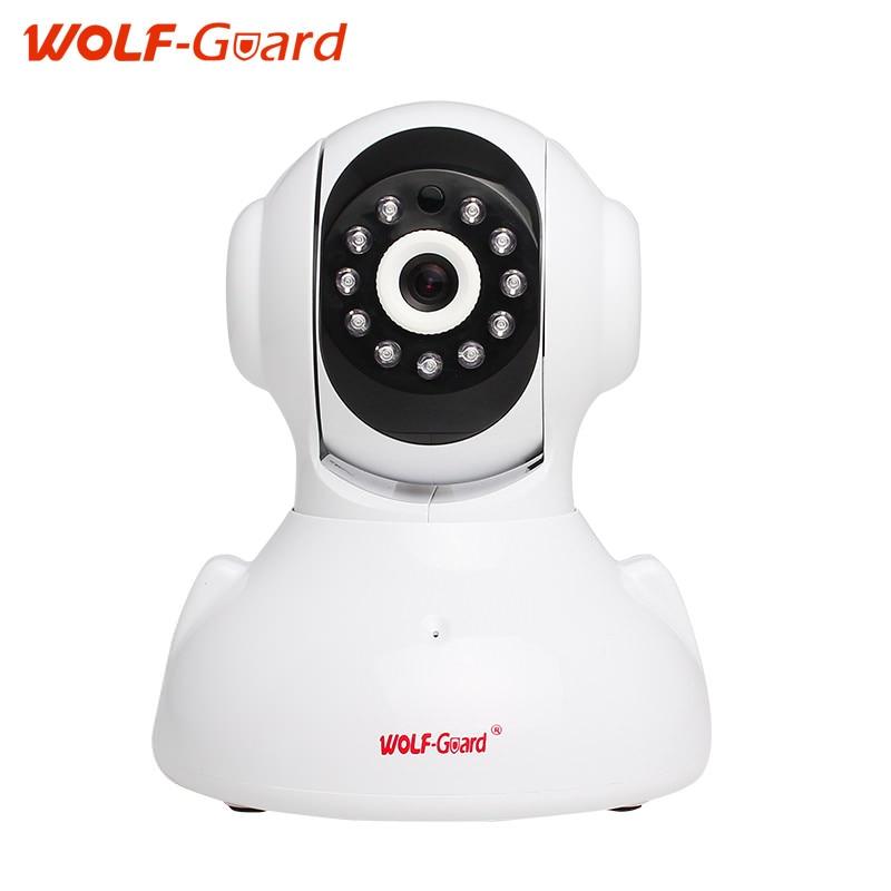 Wolf-Guard White 720P Wireless IP Camera HD Wifi Indoor camera Built-in 75dB Intercome Speaker Surveillance CCTV Camera the white guard