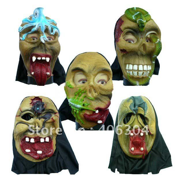 free shipping latex halloween mask011kgspc horror mask - Face In Hole Halloween