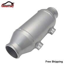 "Universal 290 มม.น้ำของเหลวAir Intercooler Barrel Cooler 4 ""X 6"" สำหรับSupercharger Turboรถ"