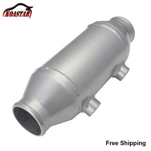 """Image 1 - Universal 290MM Plate Water Liquid To Air Intercooler Barrel Cooler 4""""x6"""" For Supercharger Turbo Car"""