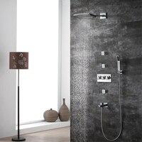 HIDEEP новые роскошные настенный Душ Высокое качество латунь пять функций смесители набор Системы холодной и горячей воды ручной душ